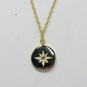 Celestial Starburst Medal Necklace
